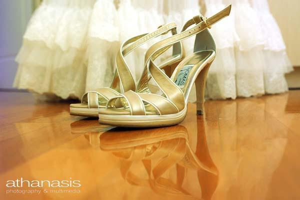 νυφικά παπούτσια κοντινό