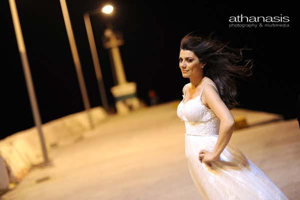 πορτραίτο της νύφης, βιομηχανικό τοπίο, φωτογραφία γάμου