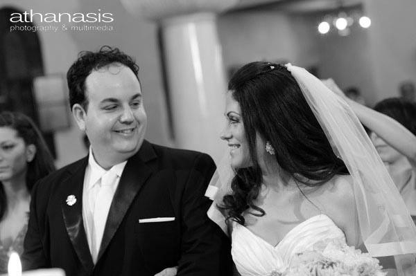 ένα βλέμμα μια χημεία γαμπρός νύφη μαζί