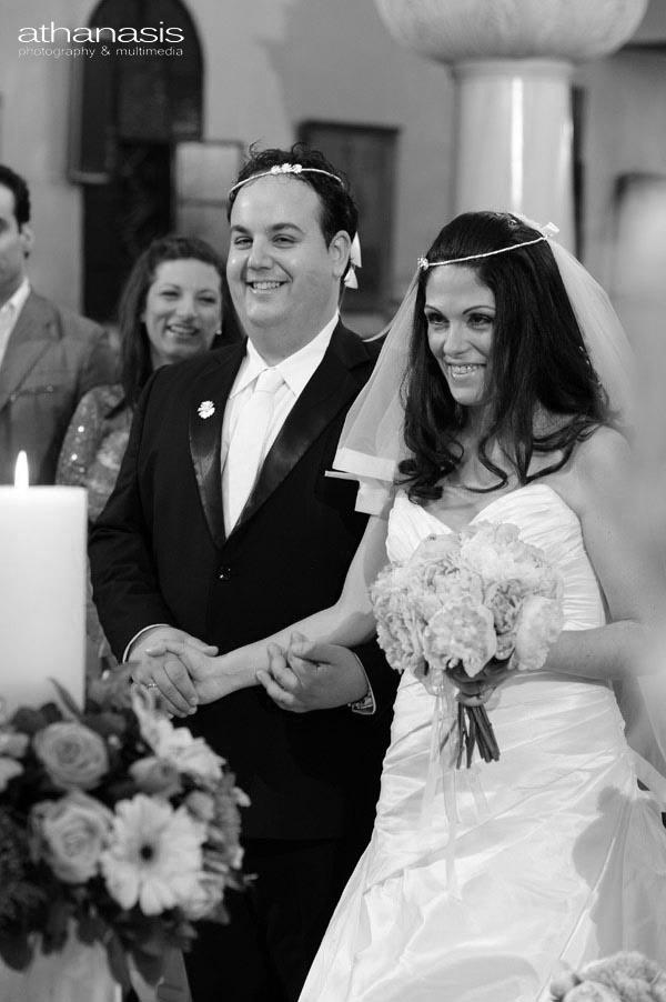 το ζευγάρι στεφανωμένο στον γάμο τους