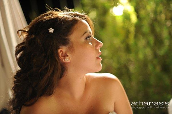 όμορφο προφίλ της νύφης