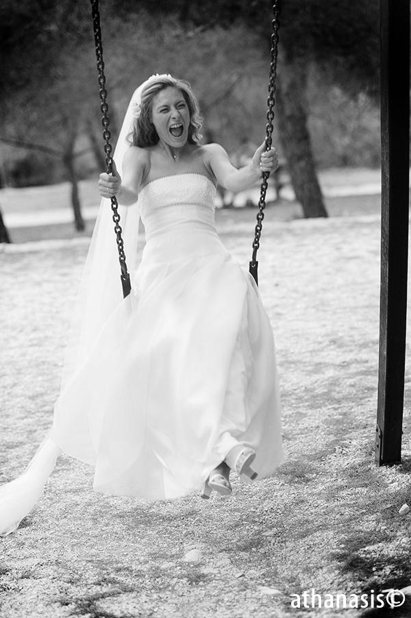 Μαυρόασπρη φωτο γαμου